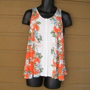 AKEMI + KIN Tank Top, L, Button front, Wide Sweep